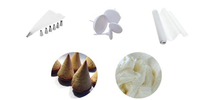 Инструменты для приготовления розочек из масляного крема