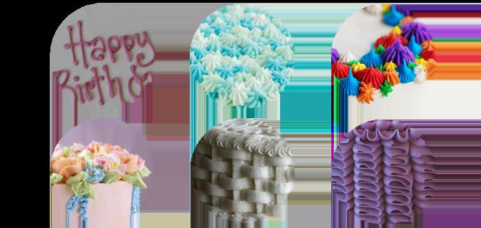 Варианты украшения торта масляным кремом
