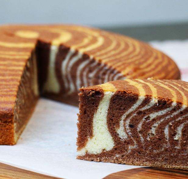рецепт пирога зебра на сметане с фото пошаговый