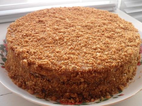 Рецепт торта со сметанным кремом в домашних условиях с фото